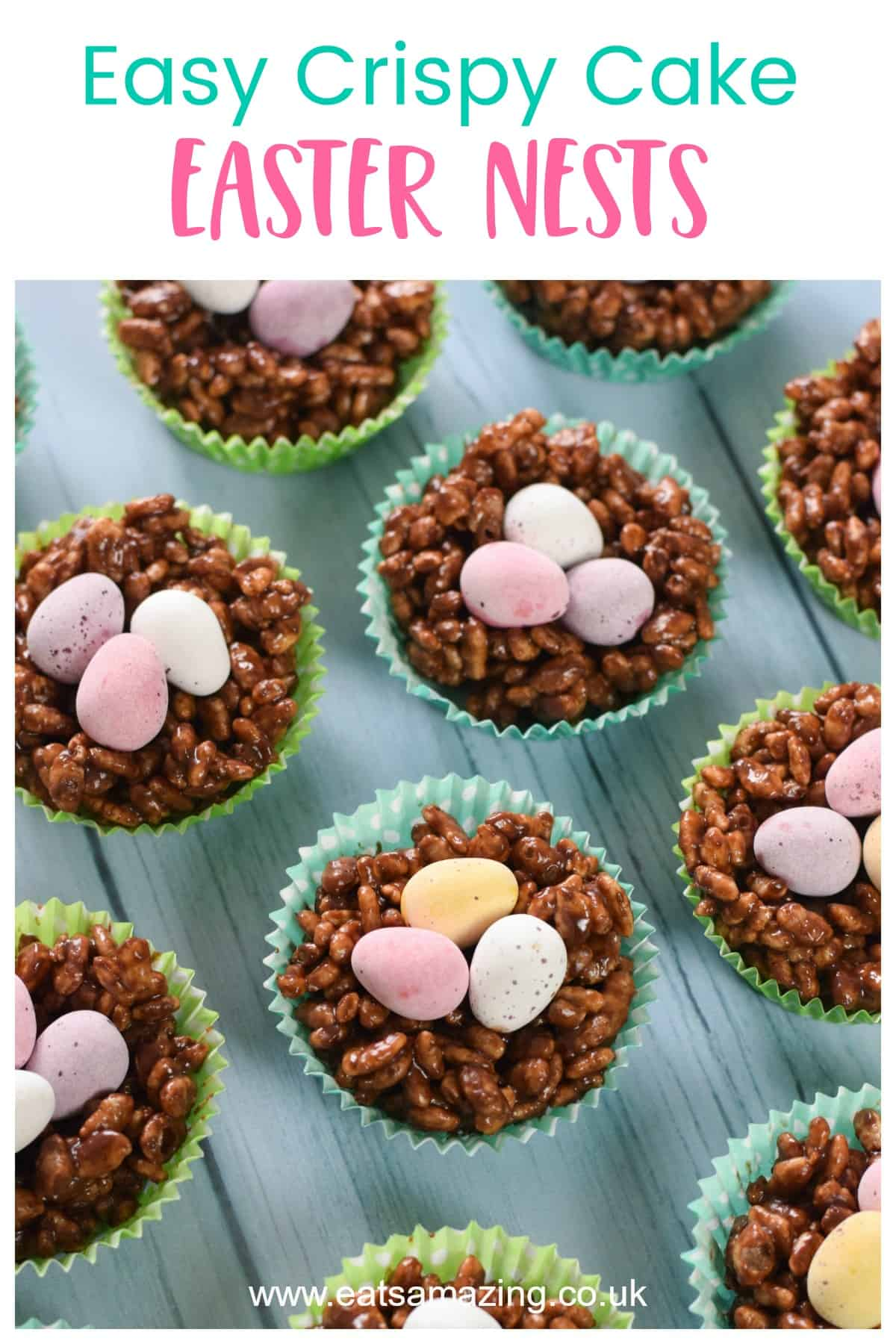 Easy Easter nest rice crispy cakes recipe - fun Easter treat for kids