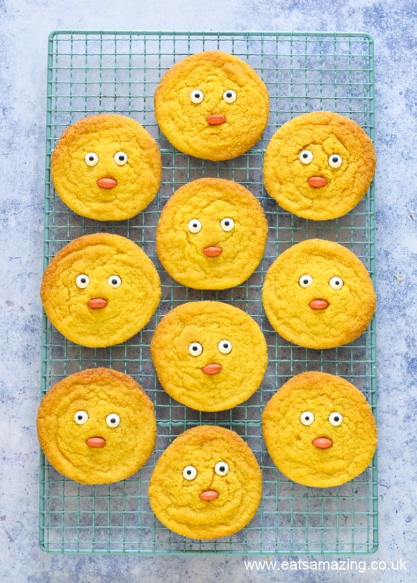 How to make cute chick cookies - fun and easy spring or Easter recipe for kids