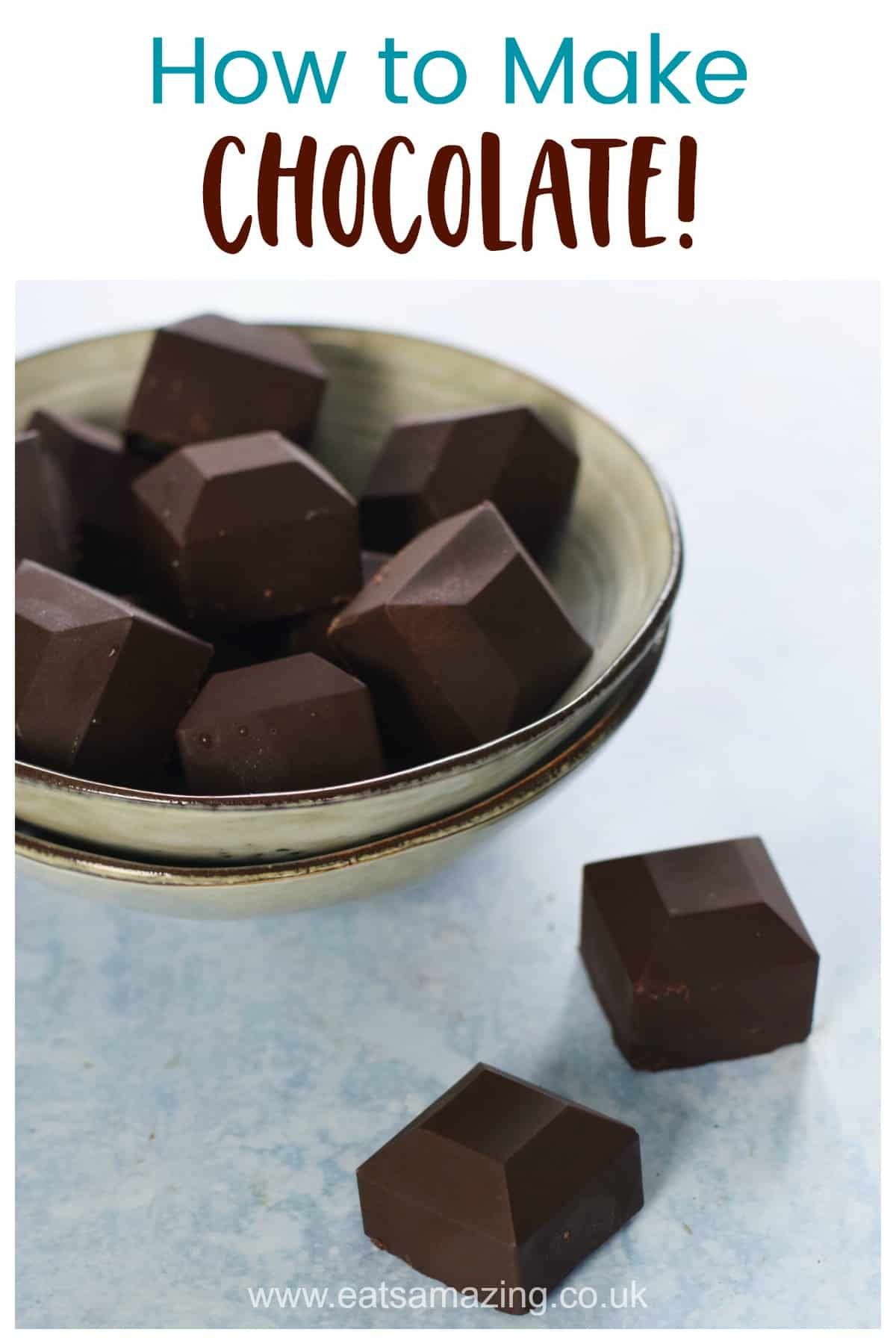How to make your own chocolate from coconut oil and cocoa powder - super easy recipe for kids