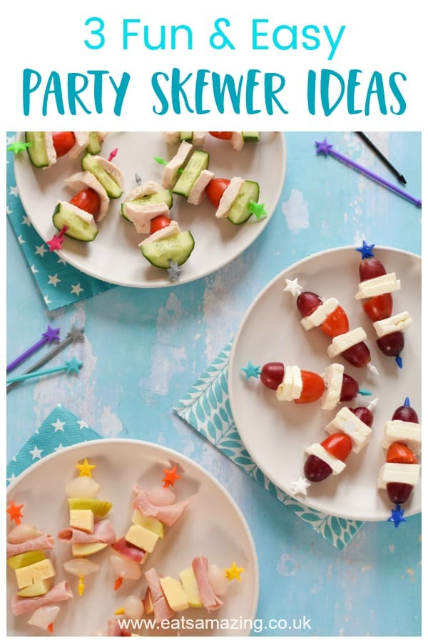 Fun and easy savoury skewer ideas - these recipes are all no-cook and perfect for picnics or parties