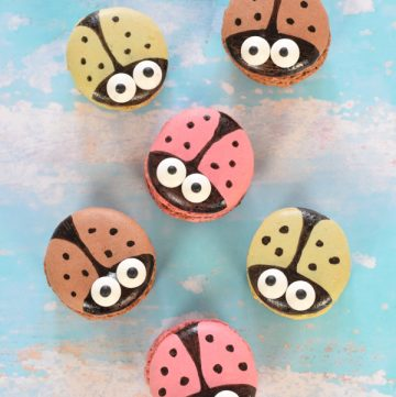 Cute and easy ladybug macarons - transform ready made macarons into fun party food with this easy step by step tutorial
