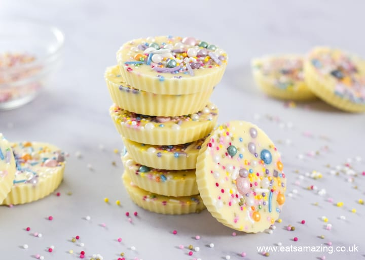 Gorgeous giant white chocolate jazzies or snowies - easy recipe for kids
