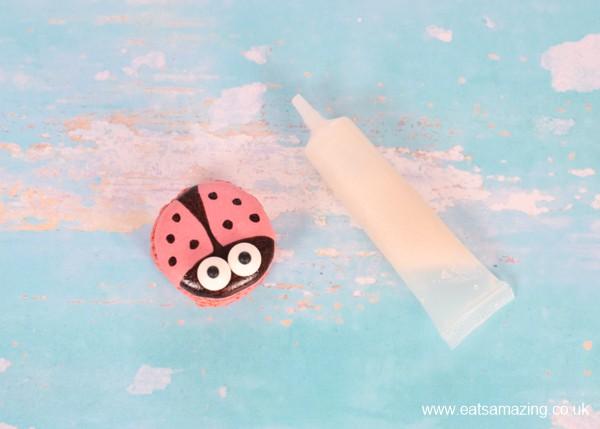 How to decorate cute ladybug macaro