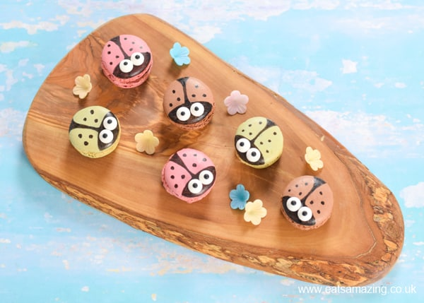 How to make cute ladybug macarons - easy cheats recipe for ladybird themed kids party food