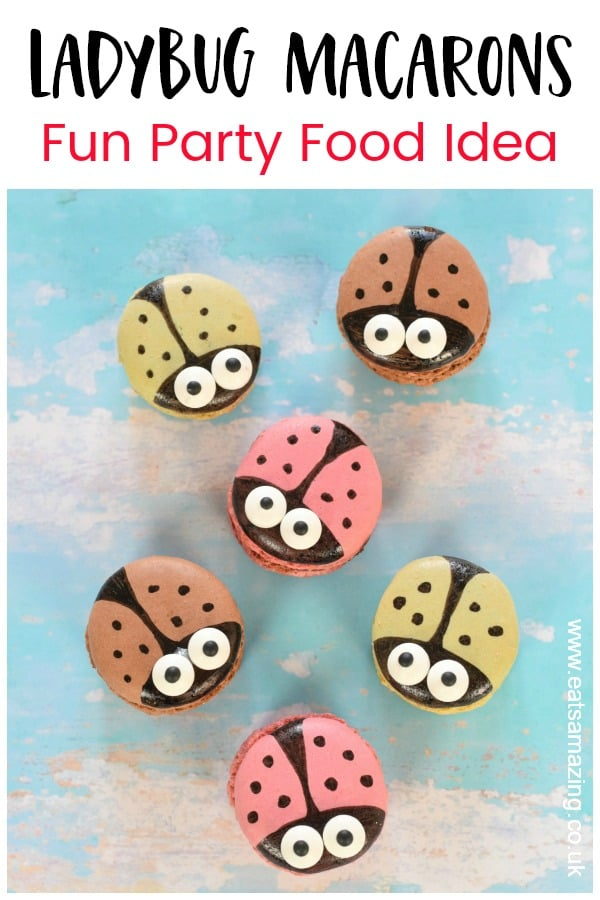 How to make cute ladybug macarons - quick and easy cheats recipe idea that is perfect for party food for kids