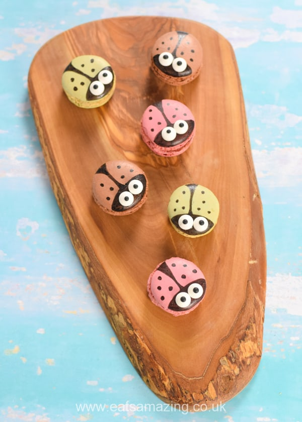 How to make quick and easy ladybug macarons - easy idea to decorate ready-made macarons for a quick party treat for kids