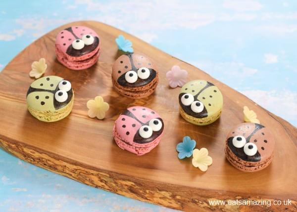 Super cute ladybird macarons - easy cheats party food recipe idea for kids