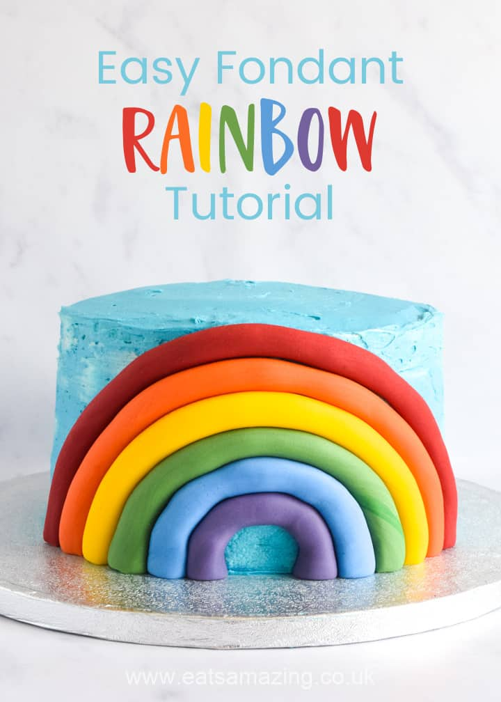 How to make an easy Fondant cake decoration - super quick no drying needed