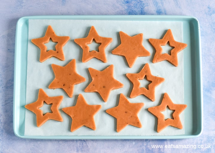 How to make peanut butter jelly star cookies - step 3 roll out and cut into stars