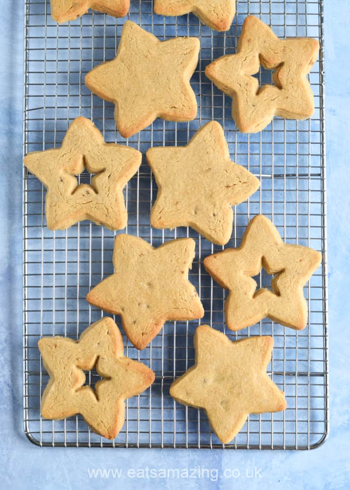 How to make peanut butter jelly star cookies - step 5 trasnfer to a cooling rack to cool