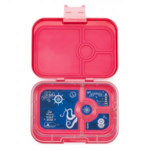 Lotus Pink Panino Yumbox Bento Box - Leakproof Lunchbox with Compartments for Kids from the Eats Amazing UK Bento Shop