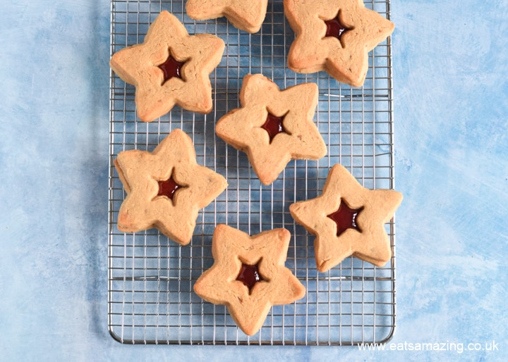 Peanut Butter and Jelly Star Cookies - fun recipe for the 4th July
