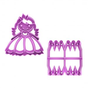 Princess Themed Sandwich Cutter Set from LunchPunch UK - Back view