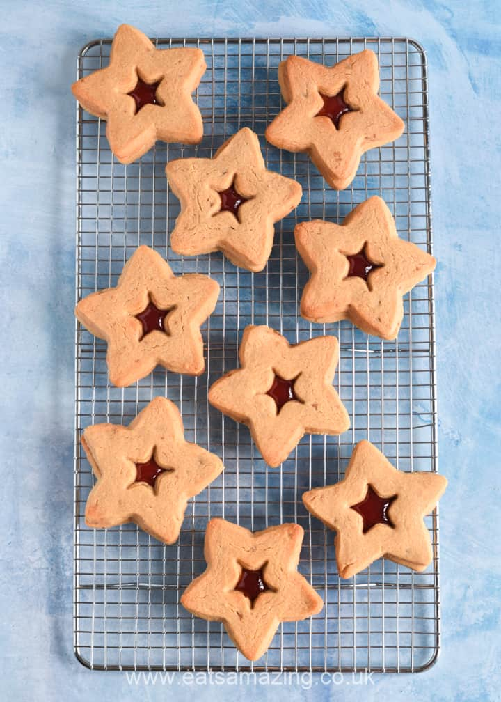 Yummy peanut butter jelly cookies recipe - fun star sandwich cookies for the 4th July