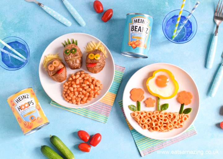 Cute and easy meals for kids with Heinz Beanz No Added Sugar and Heinz Pasta No Added Sugar
