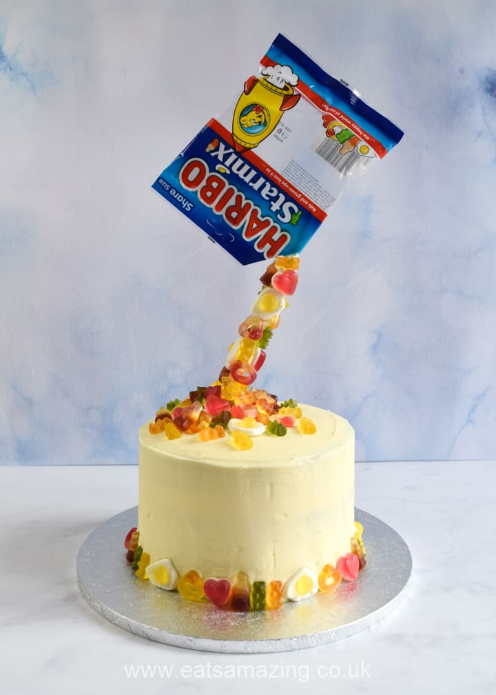 Recipe and tutorial for an easy pour cake with no special equipment needed - plus video tutorial