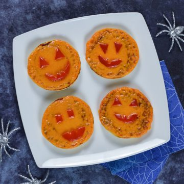 Easy Pumpkin Themed Halloween Pizzas Recipe for Kids