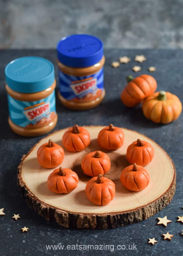 Fun Halloween Pumpkin Peanbut Butter Balls recipe with SKIPPY Peanut Butter