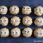 Fun mummy peanut butter balls recipe for Halloween