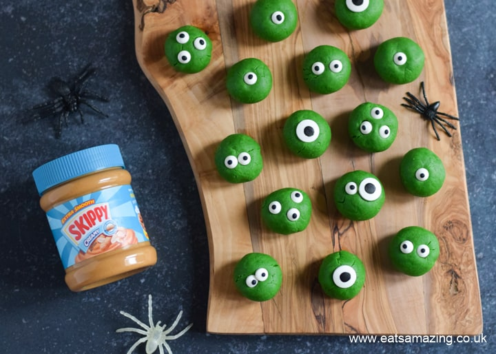 How to make Monster themed Halloween peanut butter balls with SKIPPY Peanut Butter