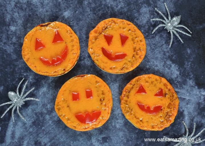 How to make easy Halloween pumpkin pizzas from English Muffins