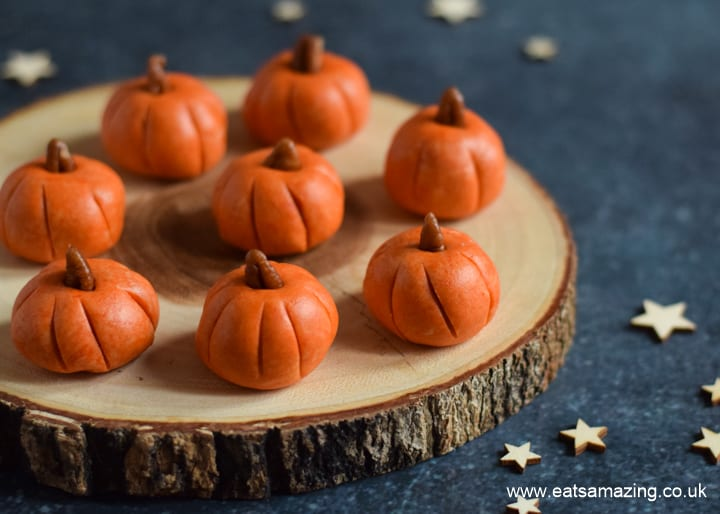 Quick and easy Pumpkin Peanut Butter Balls recipe - fun Halloween recipe for kids