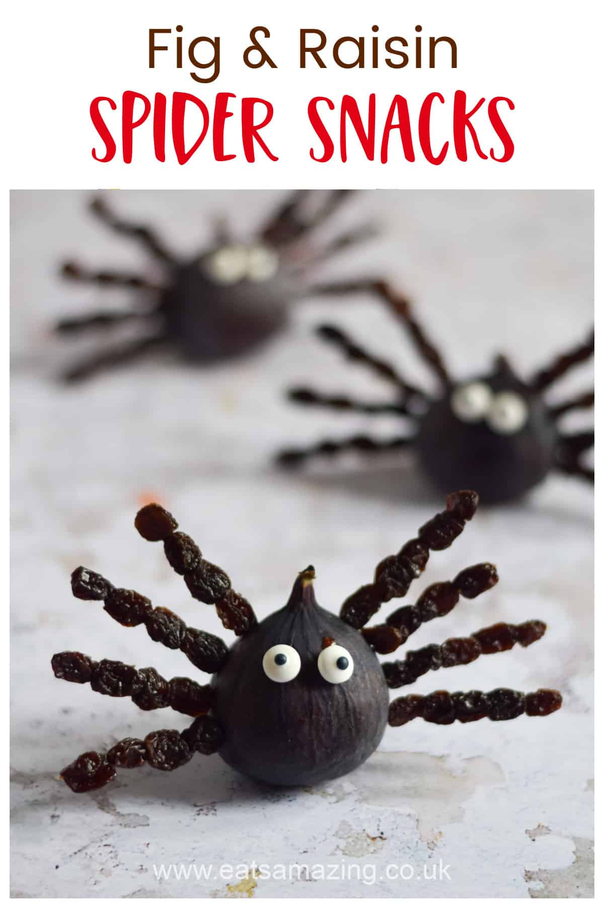 Fun and healthy Halloween Snack Idea - these fruit spiders are perfect for Halloween Party food for kids