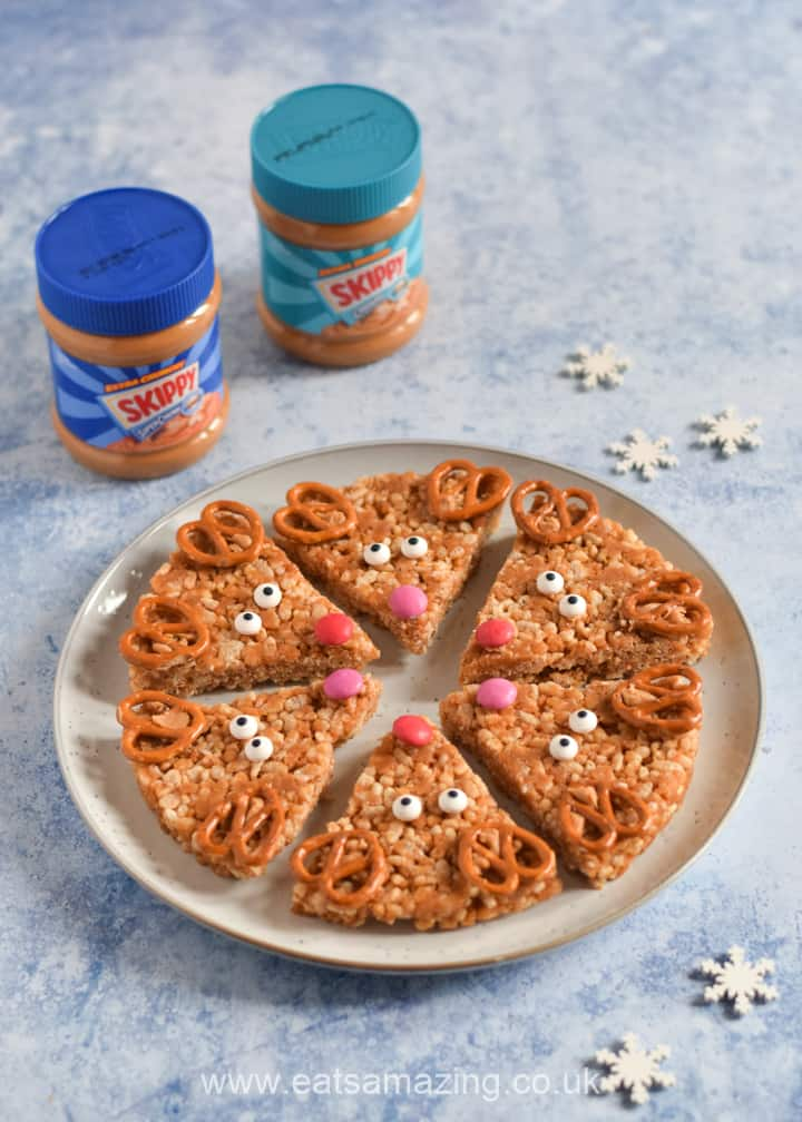 How to make cute and easy Reindeer Rice Crispy Treats with SKIPPY Peanut Butter