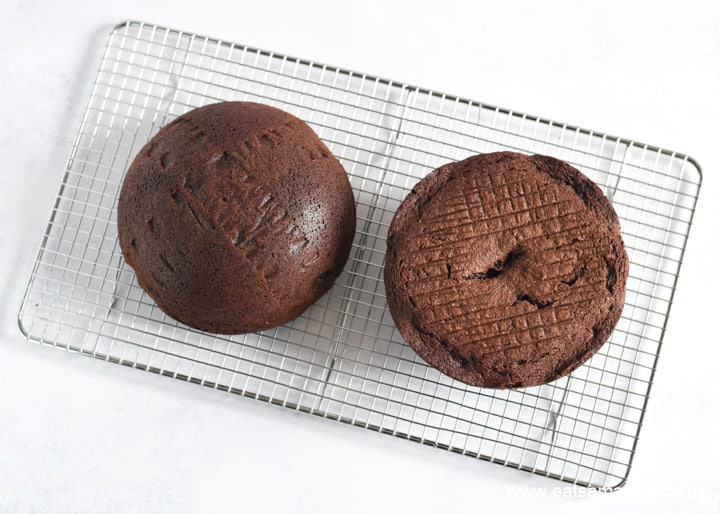 How to make a Star Wars Death Star Cake - Step 1 bake and cool two half sphere cakes