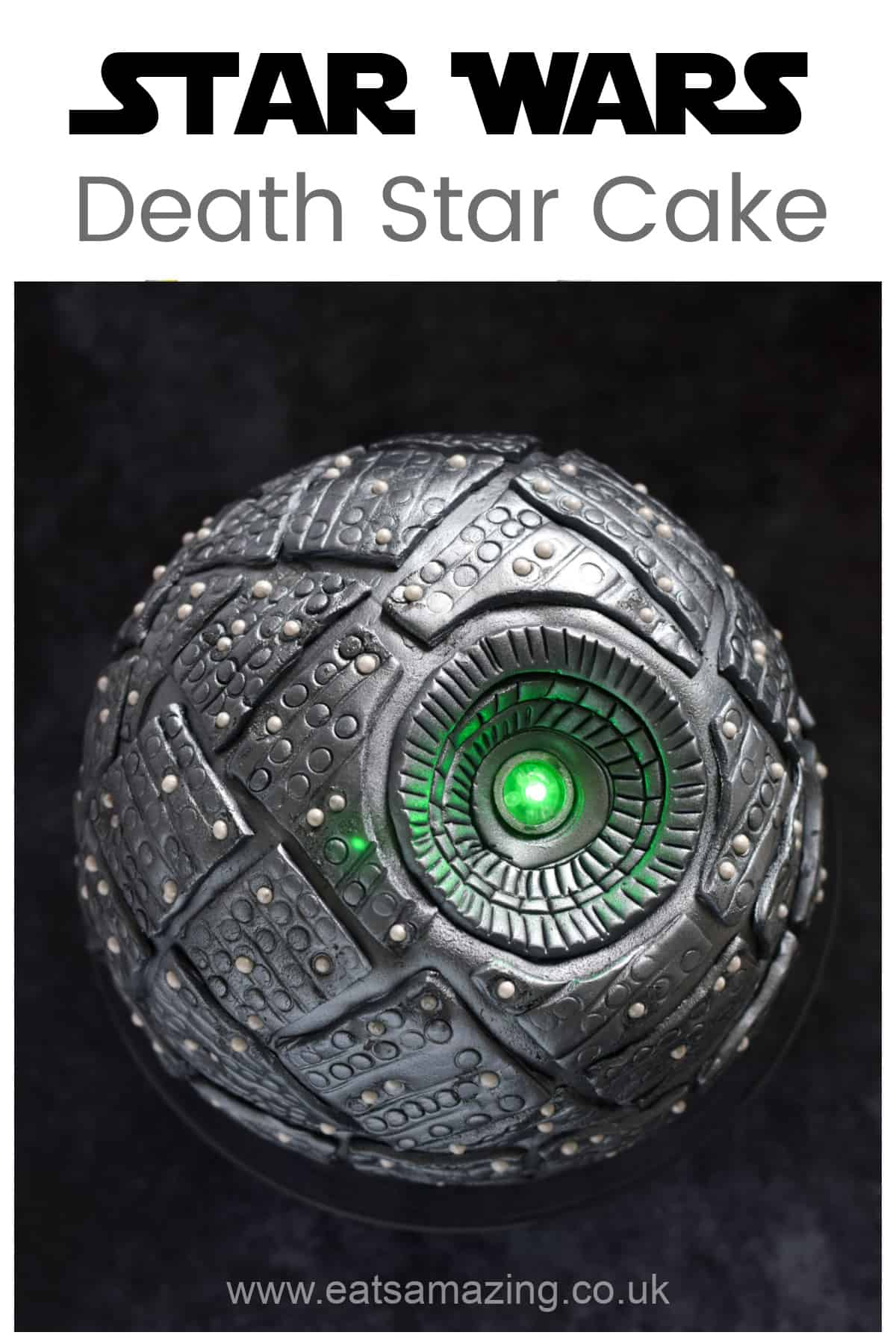 How to make an awesome Star Wars cake - an edible Death Star with light up laser - fun cake recipe for a Star Wars Party