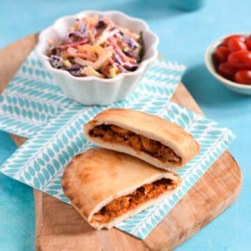 Walls Pastry Microwave slices - Mexican Chicken Fajita slice with crunchy rainbow coleslaw
