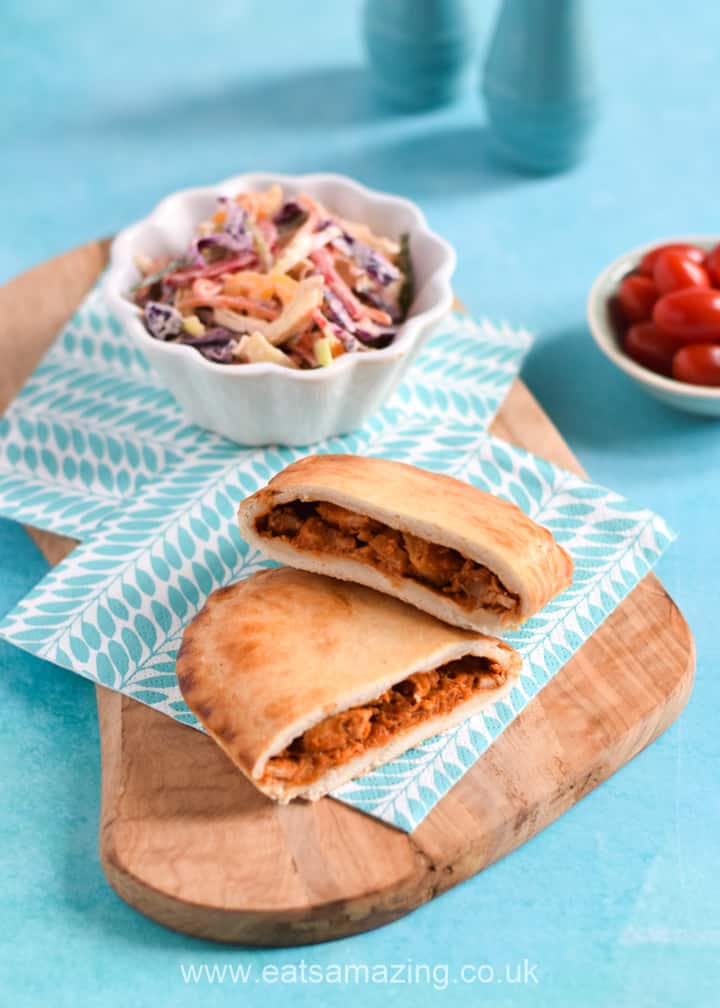 Wall's Pastry Microwave slices - Mexican Chicken Fajita slice with crunchy rainbow coleslaw