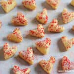 Cute and easy Sprinkle Puff Pastry Hearts recipe for Valentines Day