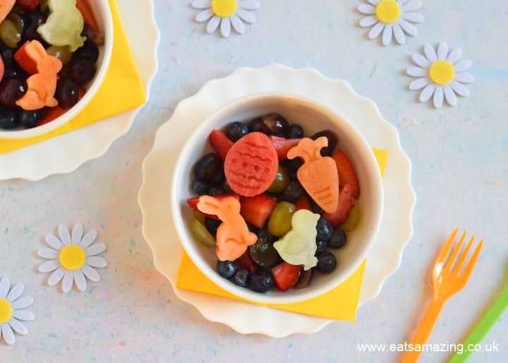 Cute and healthy Easter fruit salad recipe for kids