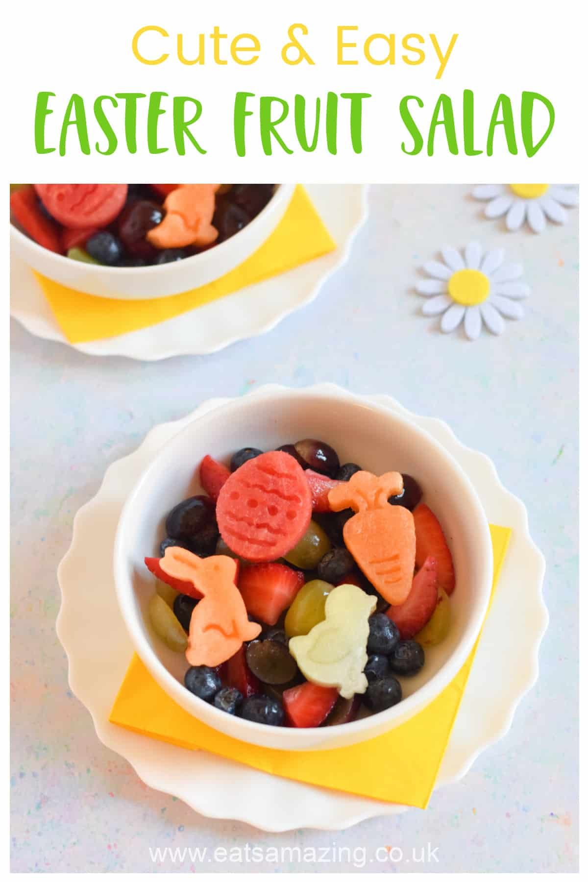 How to make a cute and easy Easter Fruit Salad - healthy Easter dessert idea for kids