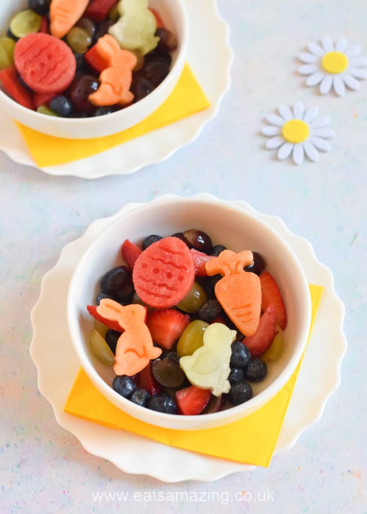 How to make a cute and easy Easter fruit salad - healthy Easter treat for kids