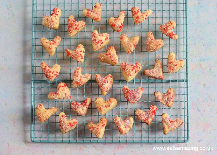 How to make easy Sprinkle Pastry Hearts - Step 6 cool on a wire rack