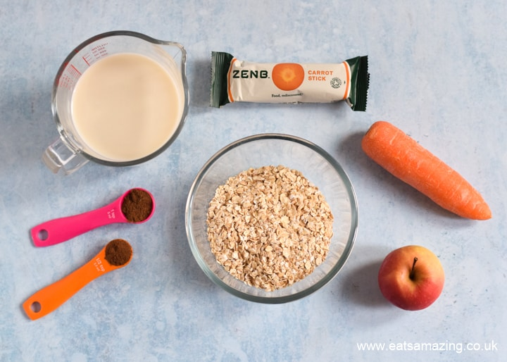 Quick and easy Carrot Cake Porridge Recipe - Ingredients