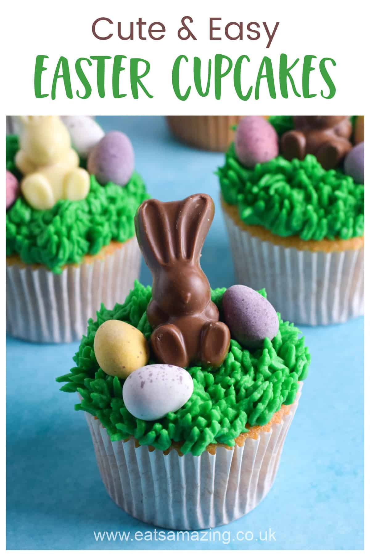 Cute and easy Easter Bunny Cupcakes recipe - fun Easter baking for kids