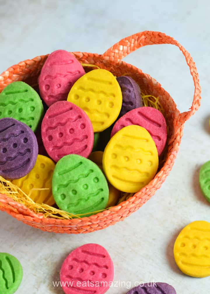 Cute and easy Easter Cookies - these Easter Egg shortbread cookies are perfect for baking with kids