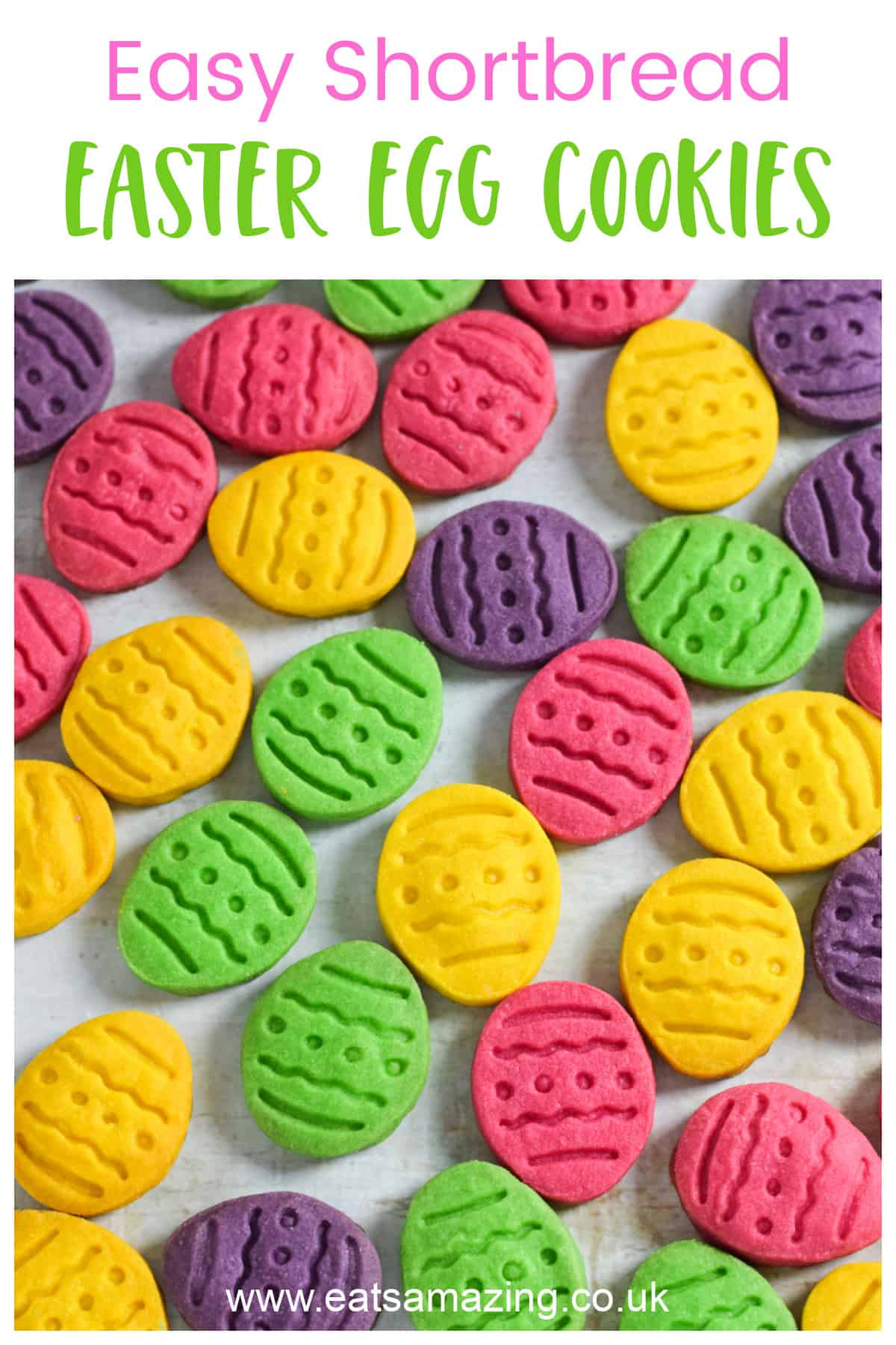 Cute and easy Easter egg cookies - fun Easter baking recipe for kids - perfect for Easter gifts