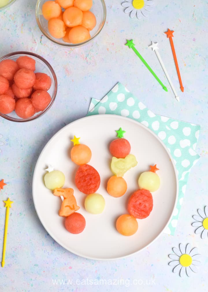 Easy Easter Fruit Skewers Recipe - fun and healthy Easter snack for kids