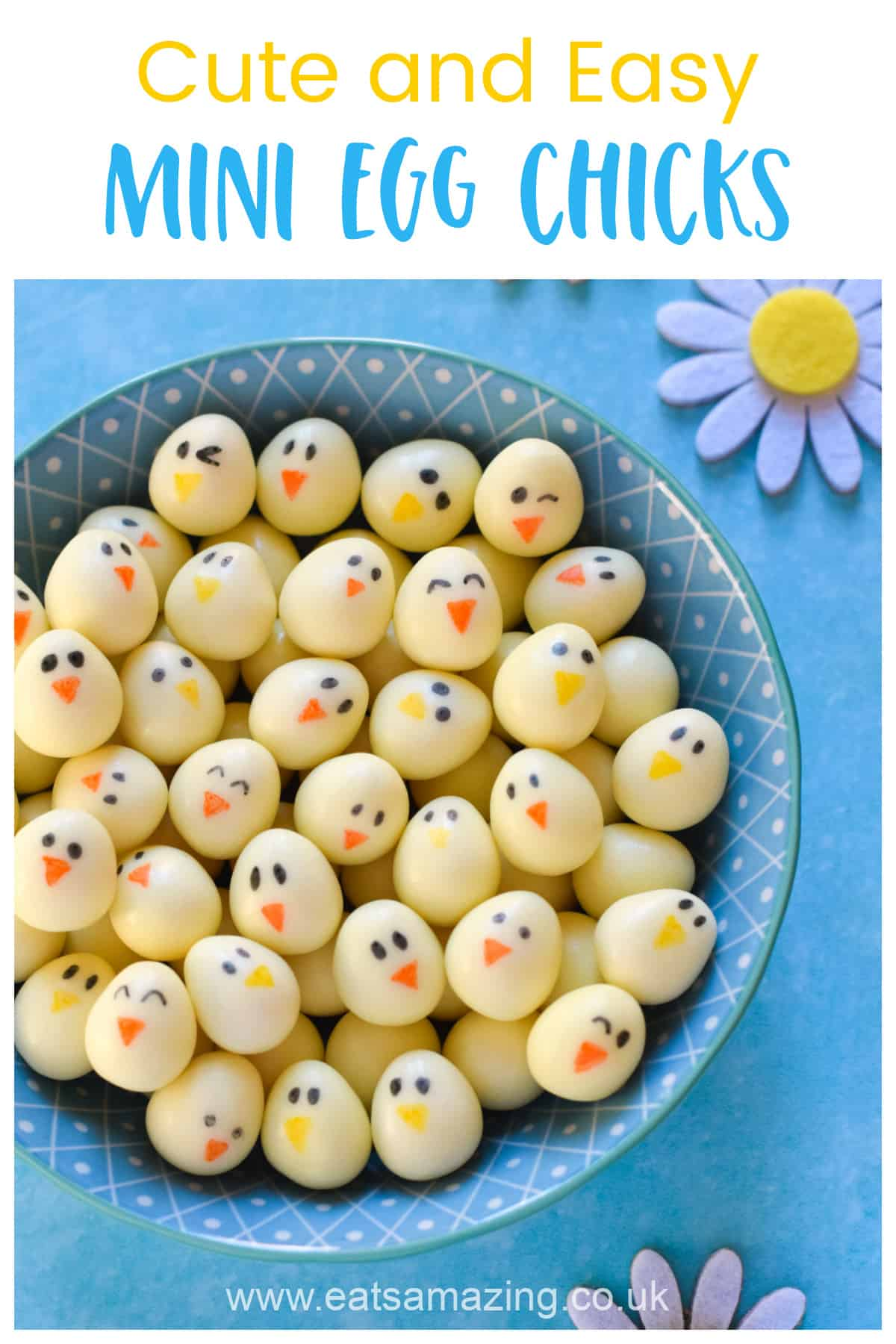 How to make cute and easy Mini Egg Chicks - perfect for Easter gifts and treats