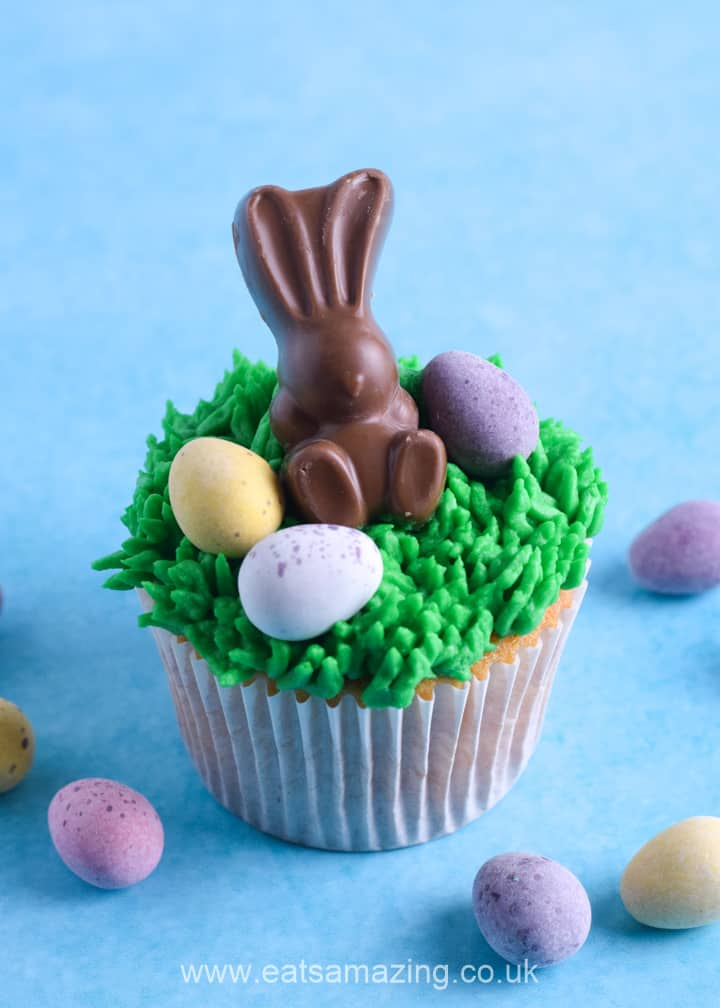 How to make easy Easter bunny cupcakes recipe - fun Easter baking with kids