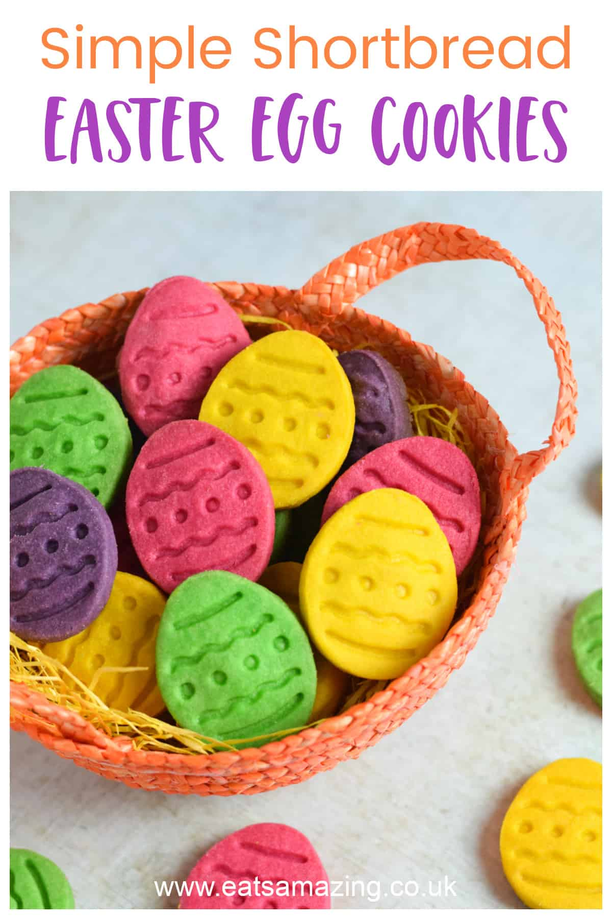 How to make easy shortbread Easter egg cookies - fun Easter recipe for kids
