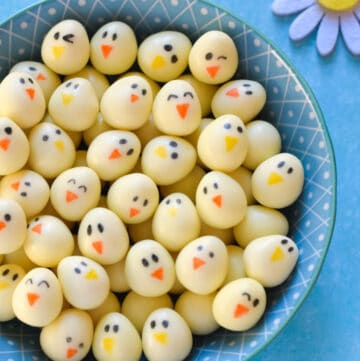 How to make fun and easy mini egg chicks - cute Easter food for kids