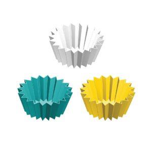 Lunch Punch Jumbo Silicone Cups UK Set of 3 - Yellow