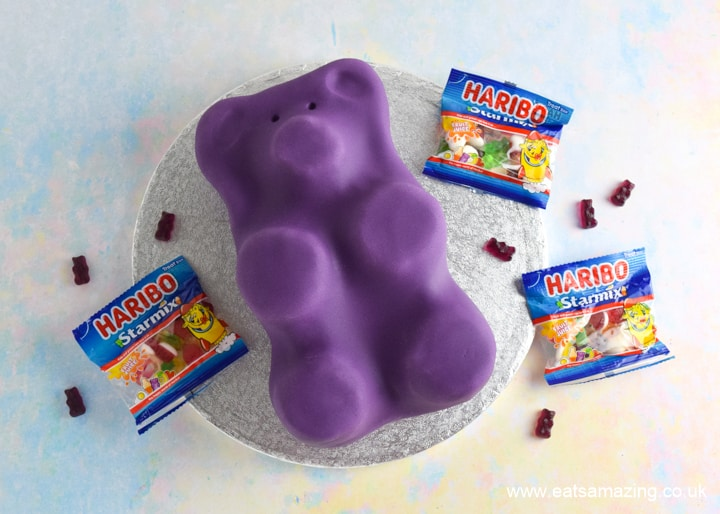 Cute and easy Gummy Bear Cake recipe with HARIBO Starmix