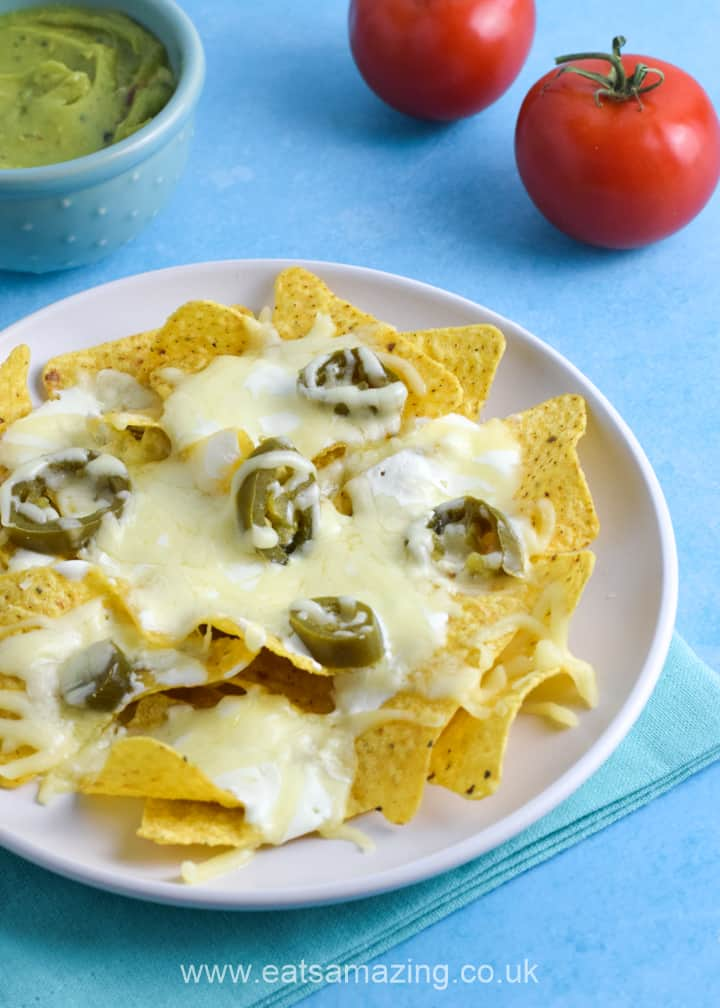Easy single serving microwave nachos recipe - perfect for a quick and easy snack