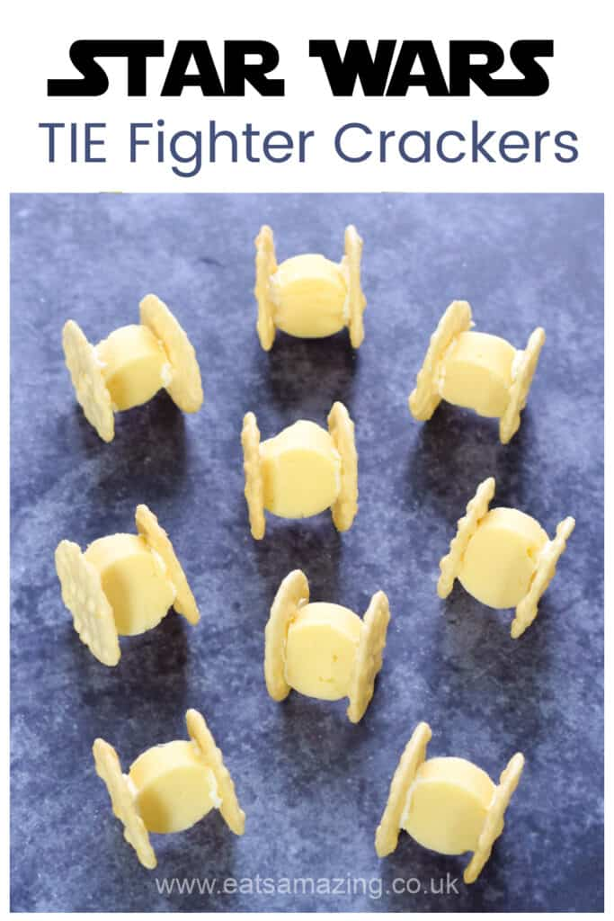 How to make cheese and cracker TIE Fighters - Easy Star Wars party food for kids